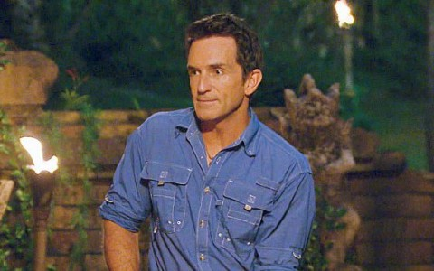 Jeff Probst hosts the Survivor Tribal Council