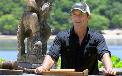 Jeff Probst hosts the Survivor Auction
