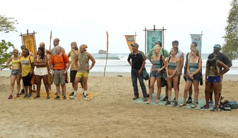 Survivor 2014 Blood Vs Water - Week 1 Challenge spoilers