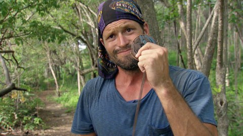 Mike Holloway with the Hidden Immunity Idol