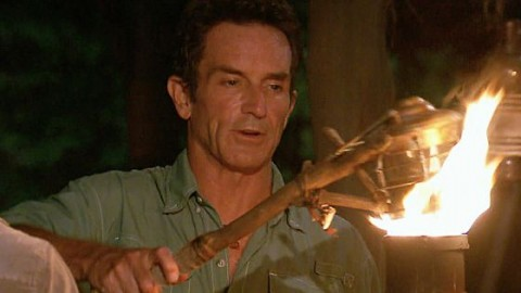 Jeff Probst at Survivor 2015 Tribal Council