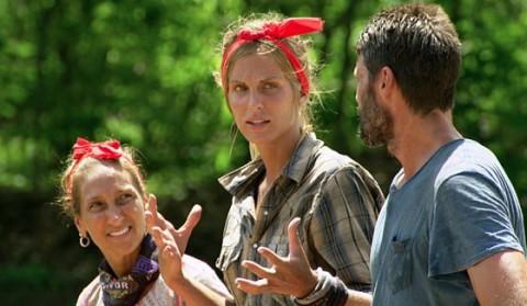 Survivor 2015 castaways Carolyn, Sierra, and Mike