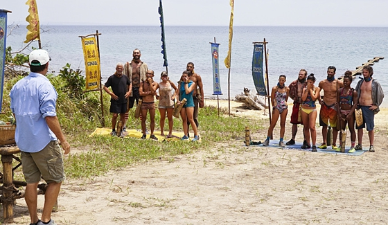 Survivor 2016 castaways prepare for a challenge