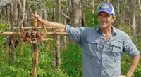 Jeff Probst has the Immunity Necklace on Survivor 2016