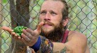 Kyle Jason offers a sacrifice to Survivor